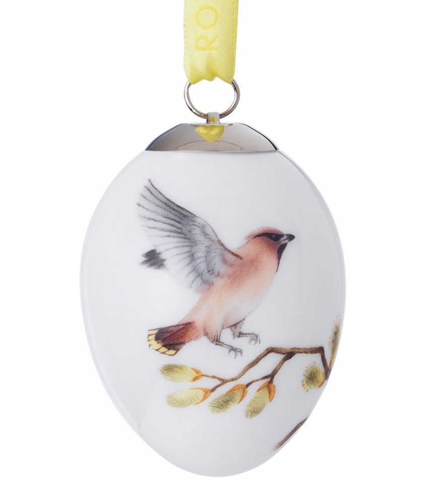2017RC1021095 - Bohemian Waxwing Egg Ornament