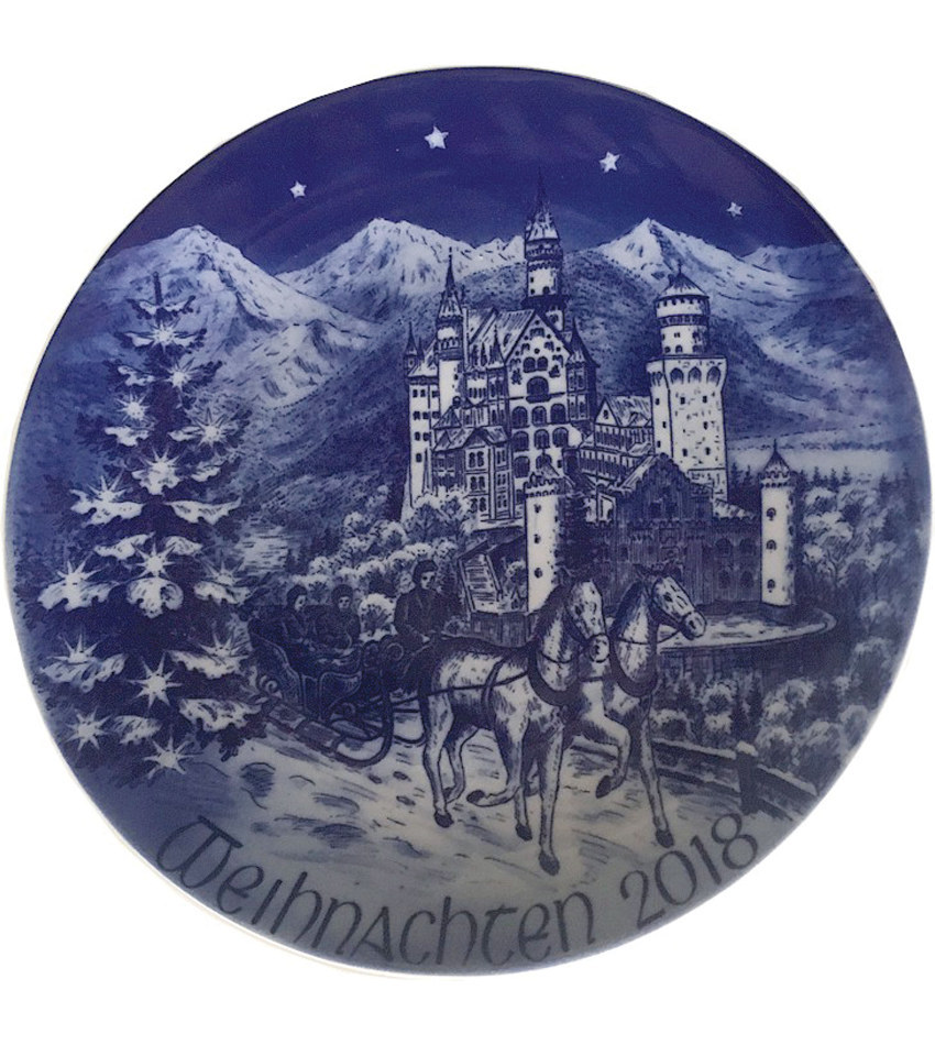 2018BARXP - 2018 Bareuther Christmas Plate