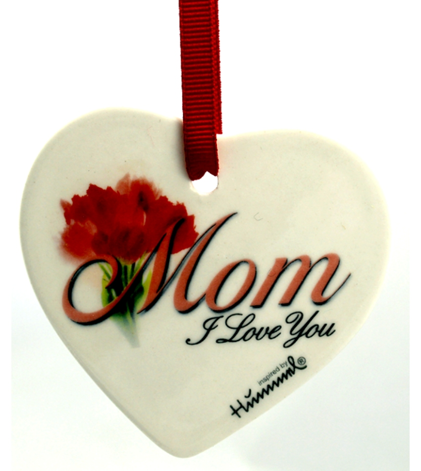 610003 - Mom, I Love You Heart Ornament