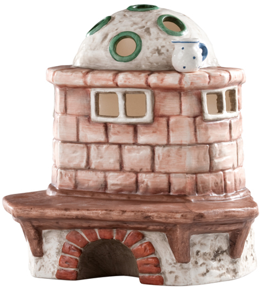 828039 - Brick Oven Tea Light Candle Holder