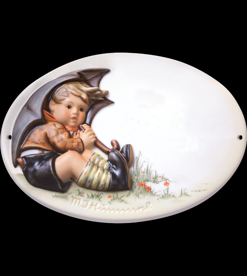 828086 - Umbrella Boy Door Plaque