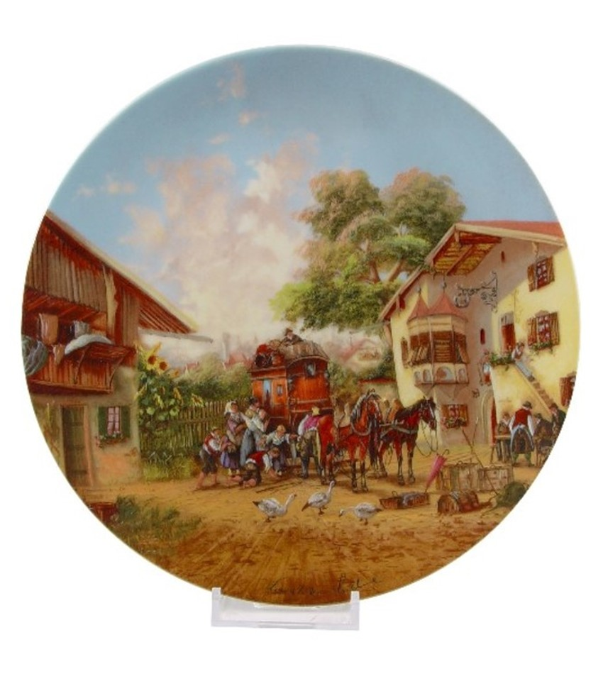 CSSTAGE - Arrival of the Stagecoach Plate