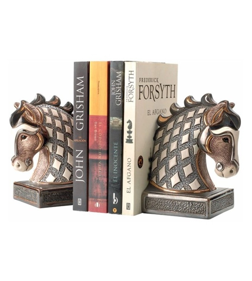 DERBE01W - White Horse Bookend