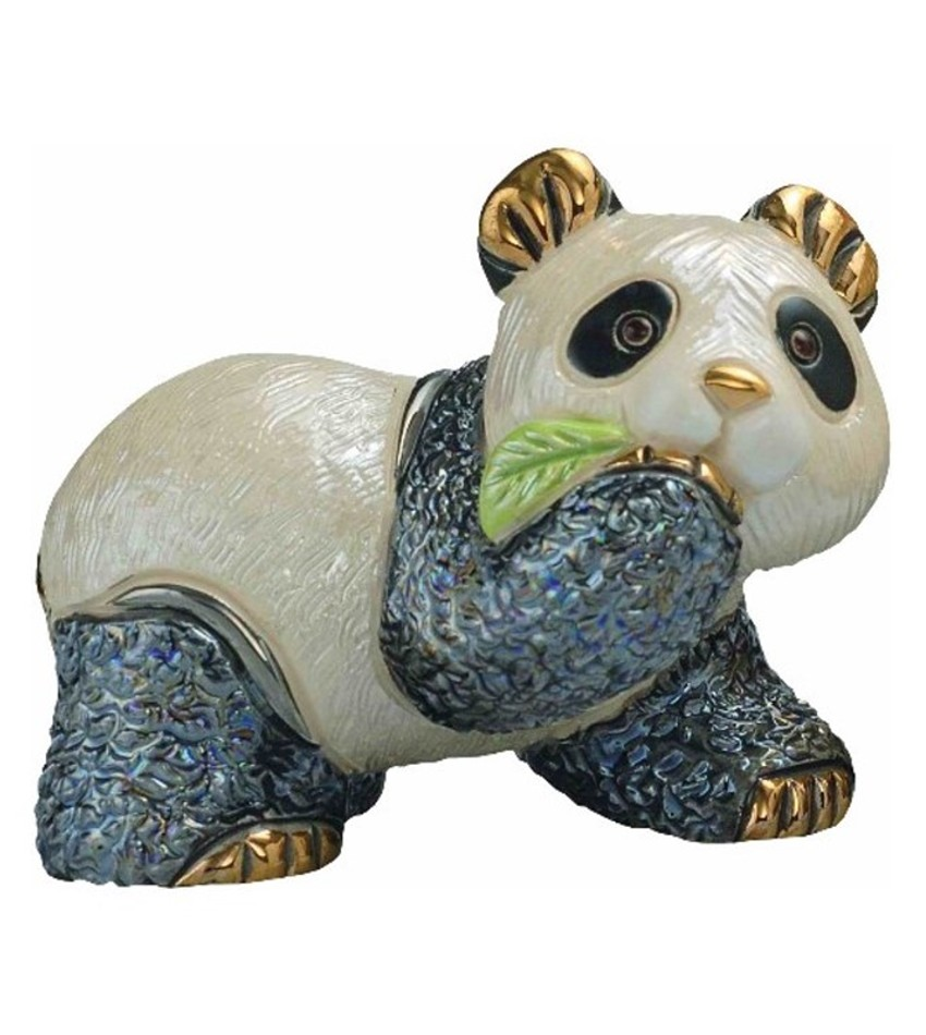 DERF303 - Baby Panda Bear with Leaf