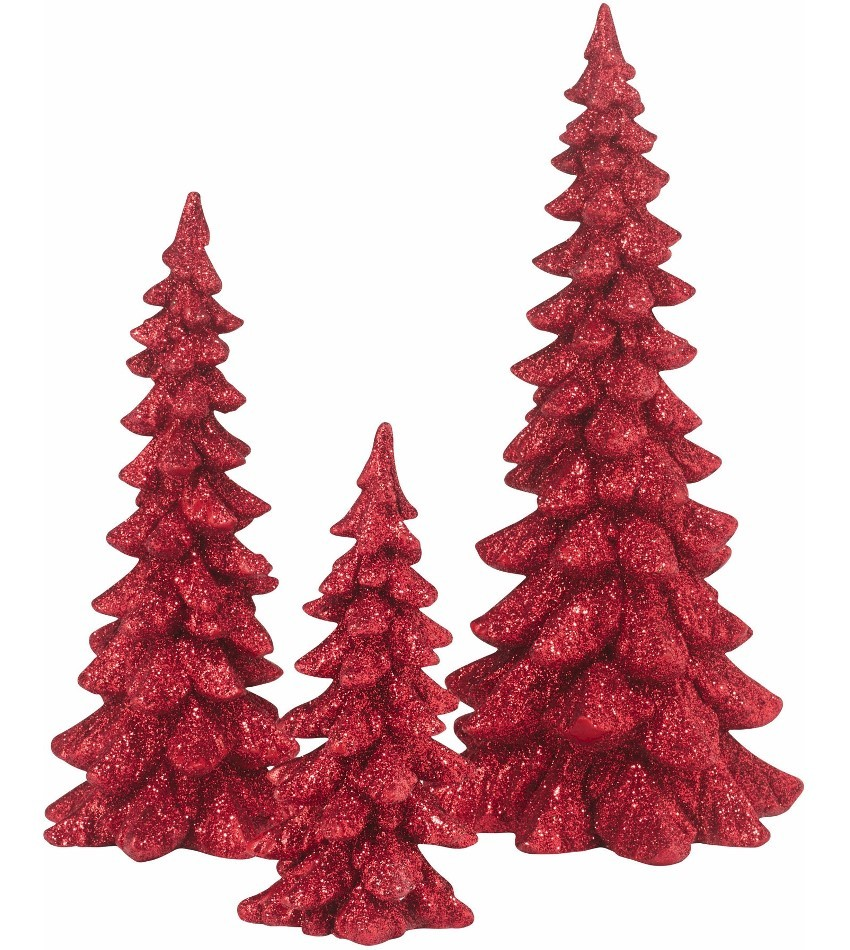 DT4047558 - Holiday Trees - red, set of 3