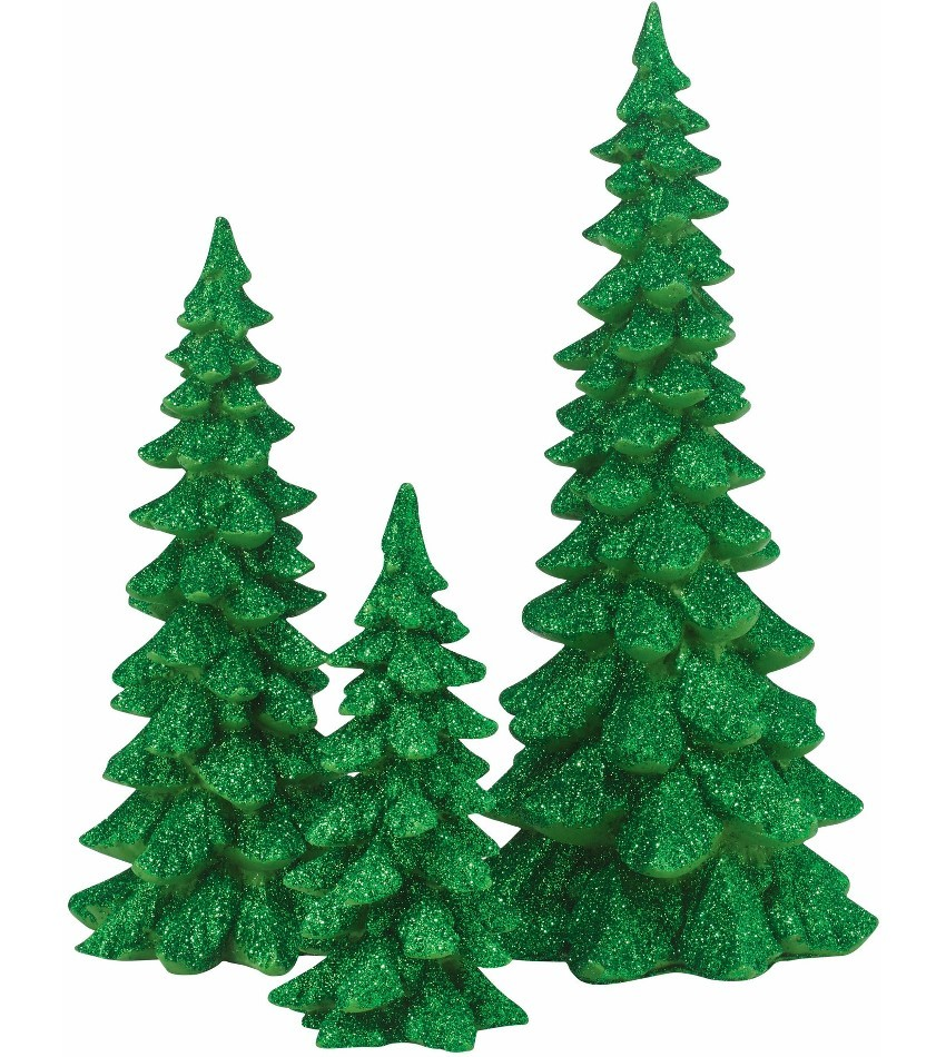 DT4047559 - Holiday Trees - green, set of 3
