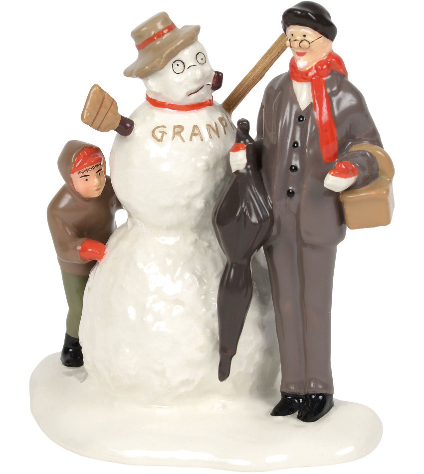 "DT6000649 - Norman Rockwell's ""Grandfather & Snowman"""