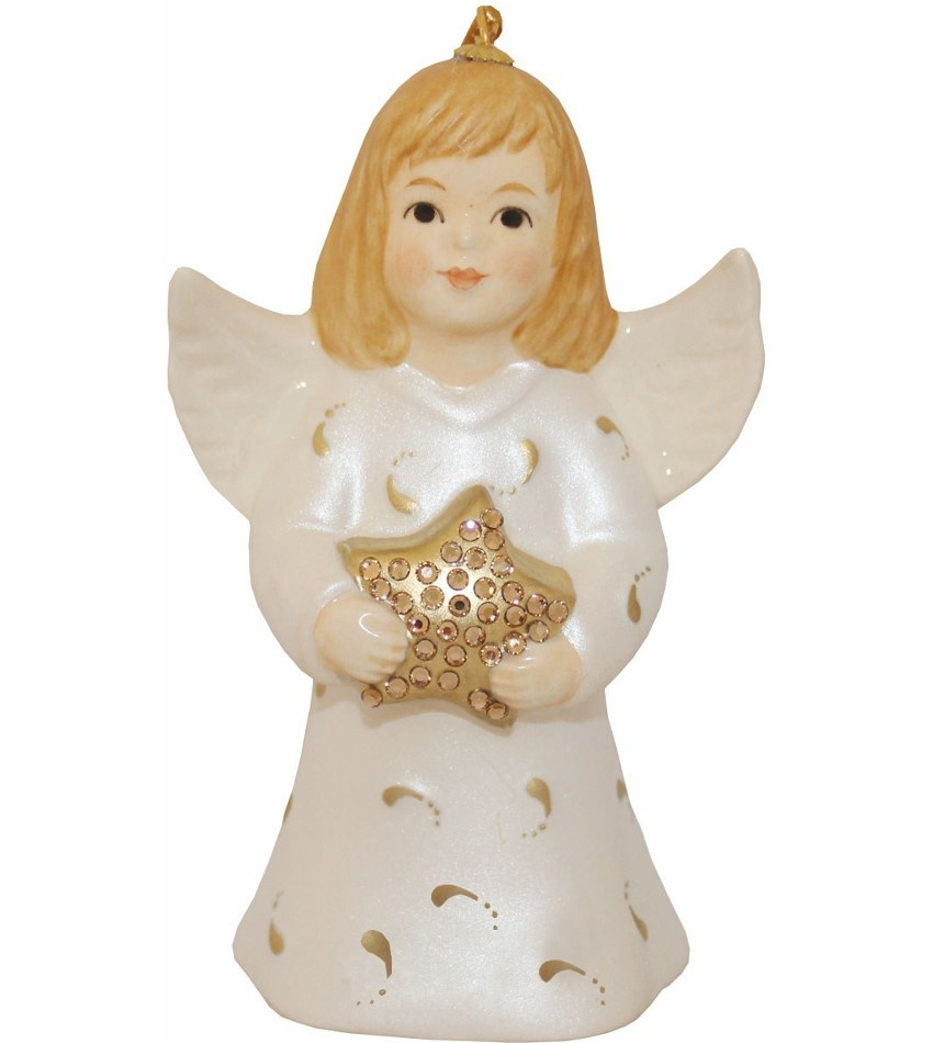G100100 - Pearl White Commemorative Angel Bell
