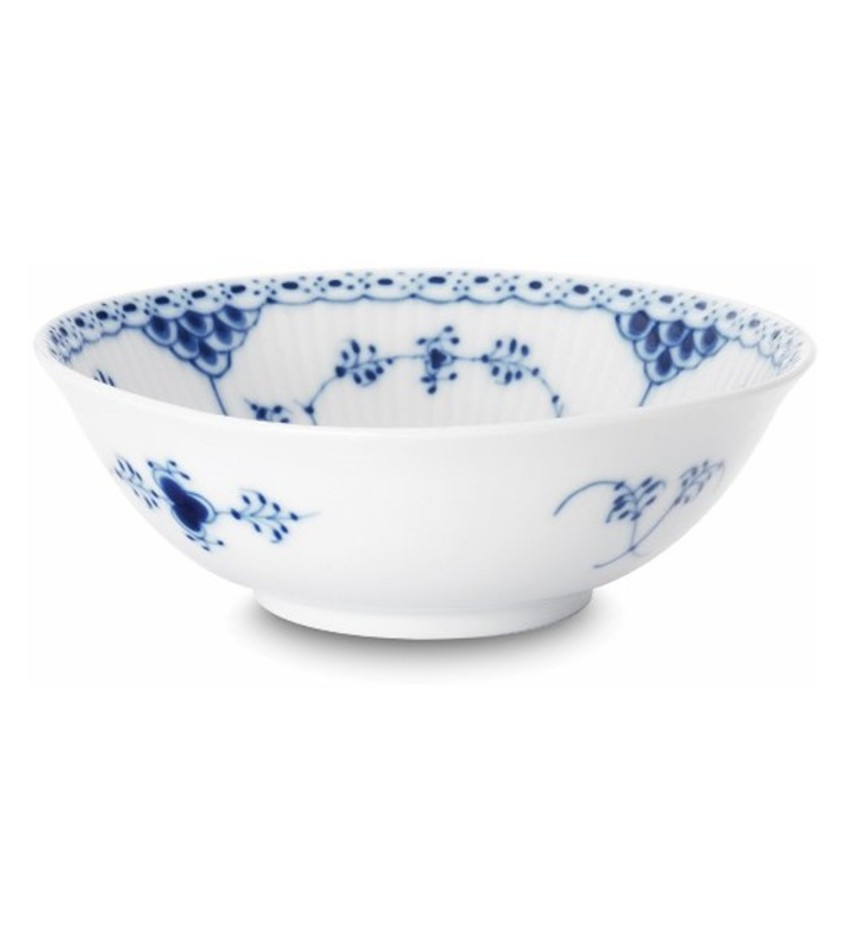 RC1102574 - Blue Fluted Half Lace Cereal Bowl