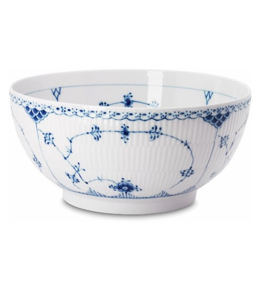 RC1102579 - Blue Fluted Half Lace Serving Bowl