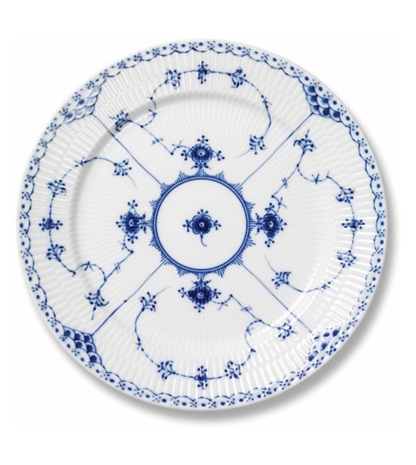 RC1102620 - Blue Fluted Half Lace Salad/Dessert Plate