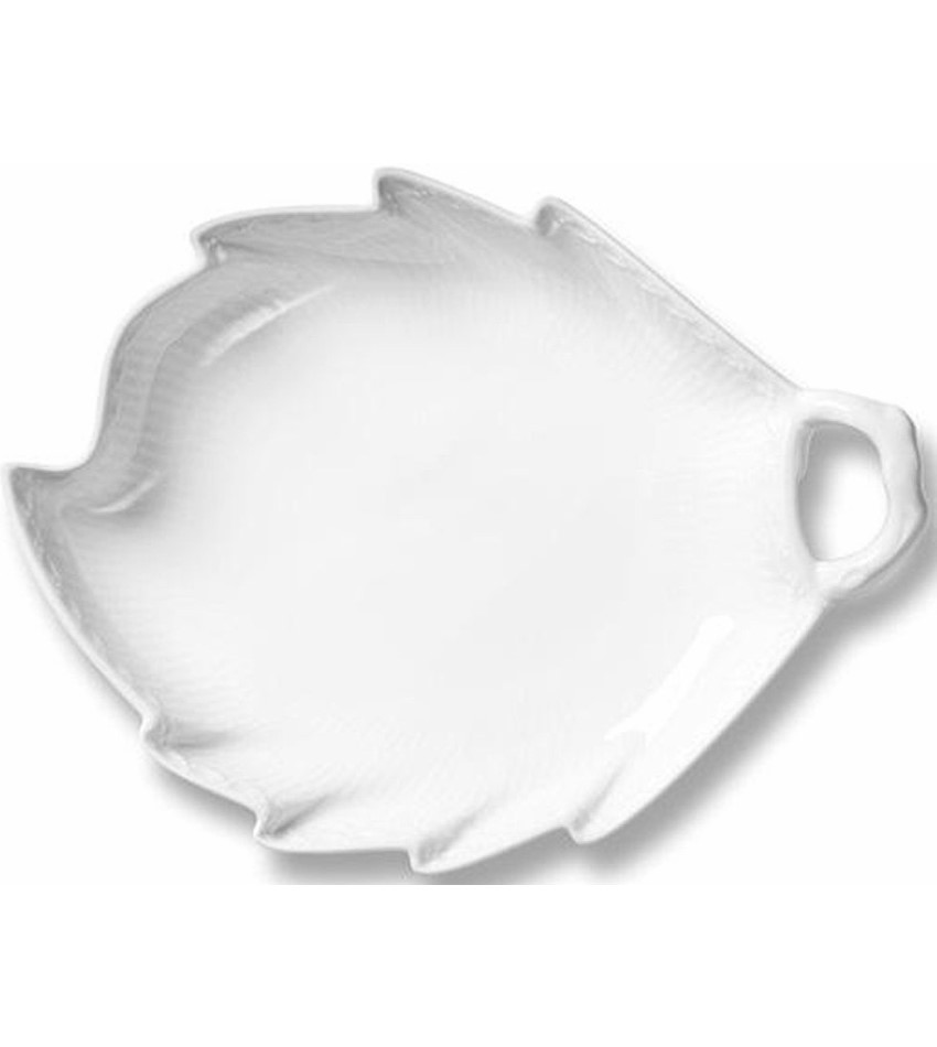 RC1128357 - White Fluted Half Lace Dish