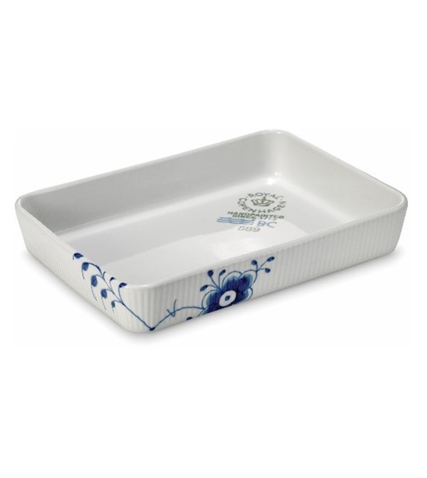 RC2381589 - Blue Fluted Mega Ovenware Rectangular Dish