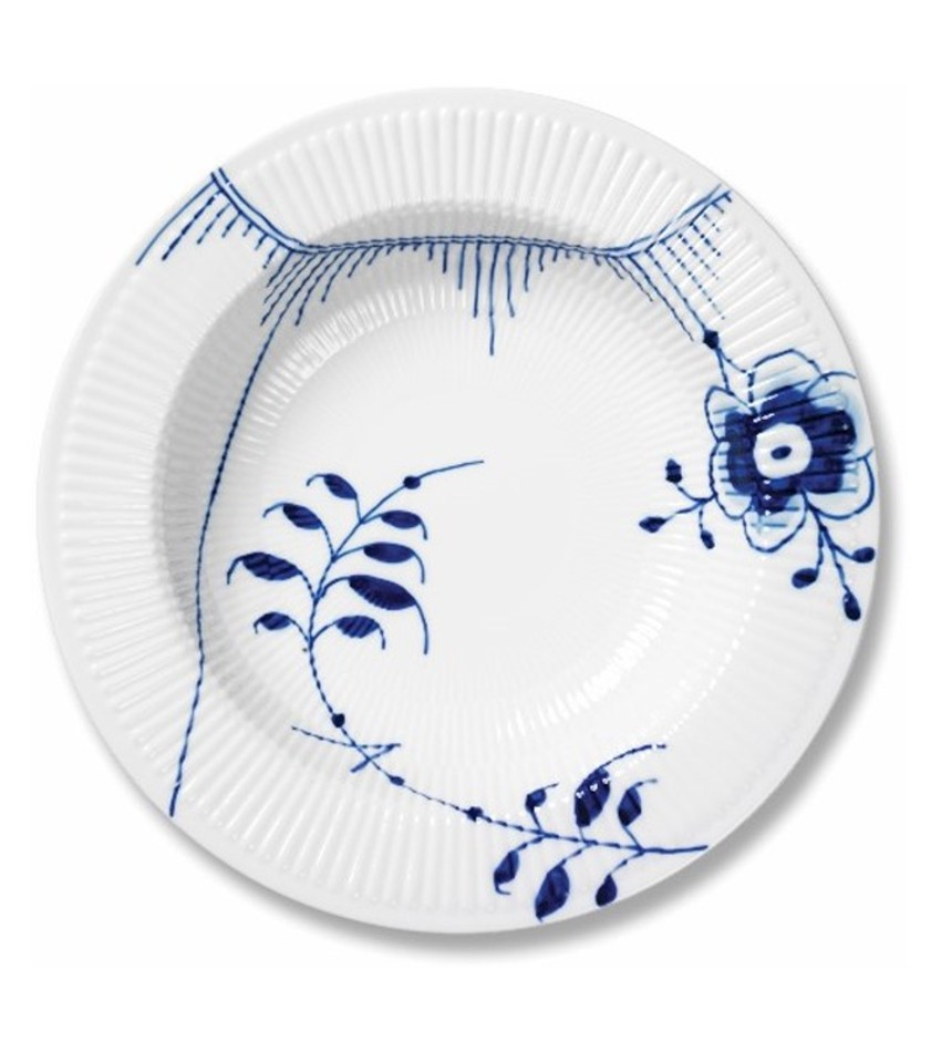 RC2381630 - Blue Fluted Mega Pasta Bowl