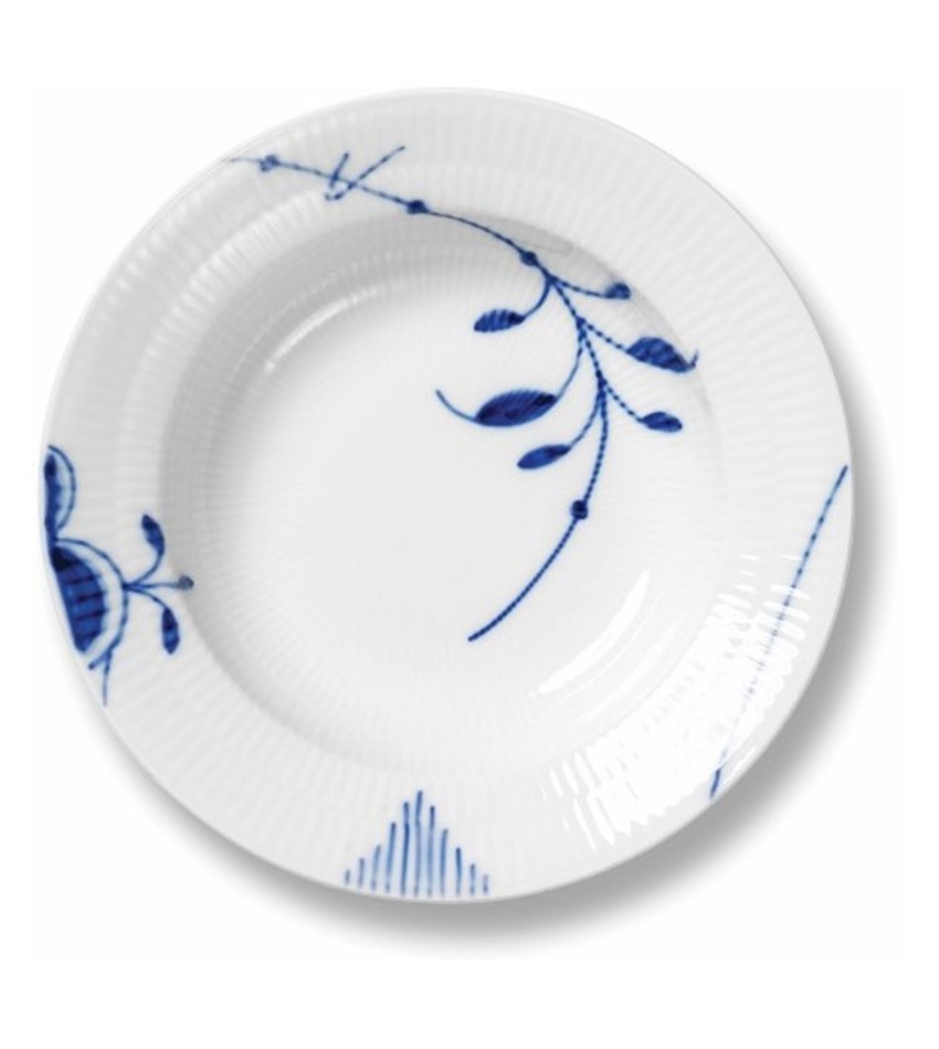 RC2382604 - Blue Fluted Mega Soup Plate