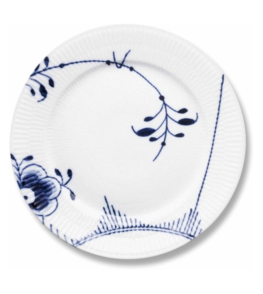 RC2382622 - Blue Fluted Mega Lunch/Dessert Plate