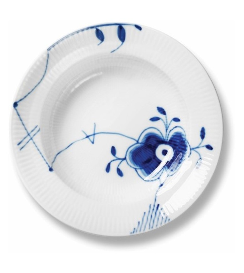RC2386604 - Blue Fluted Mega Soup Plate