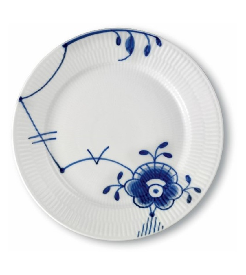 RC2386622 - Blue Fluted Mega Lunch/Dessert Plate