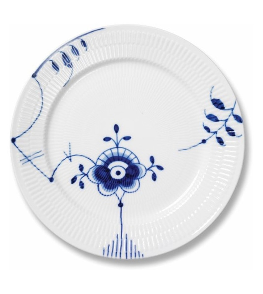 RC2386627 - Blue Fluted Mega Dinner Plate