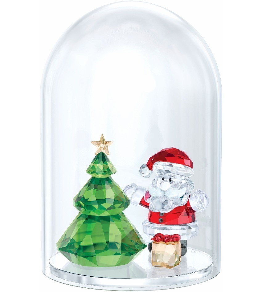 S5403170 - Bell Jar - Christmas Tree & Santa