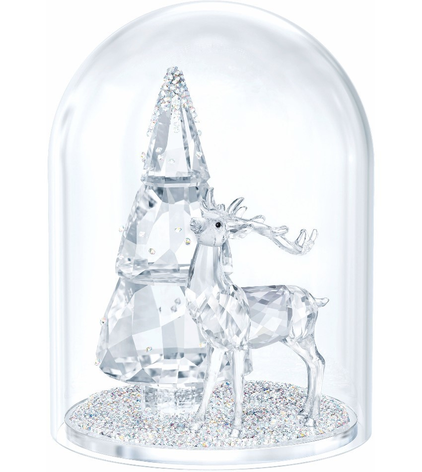 S5403173 - Belll Jar - Pine Tree & Stag