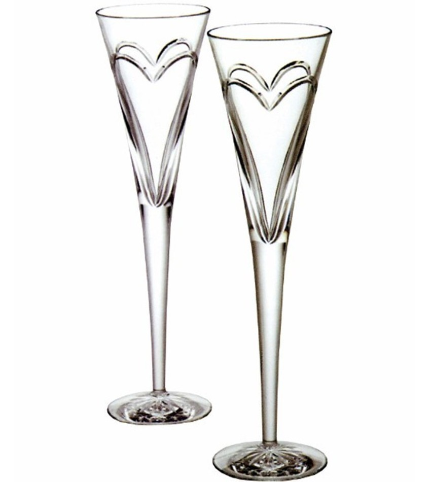 W139903 - Wishes Love & Romance Toasting Flute, Pair